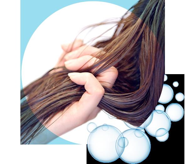 酸化劣化した髪のシワを補修